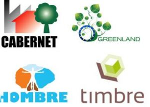 CABERNET, Greenland, HOMBRE and TIMBRE project logos - Orgnaisers of the CABERNET 2014 conference