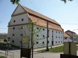 Former baroque corn-loft in Jevišovice regenerated as cultural and sport centre - by J Kunc 2010