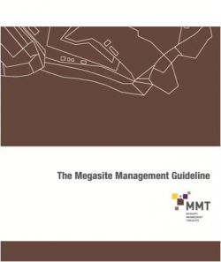 The Megasite Management Guideline