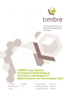 Front page of the Timbre Deliverable D1.2