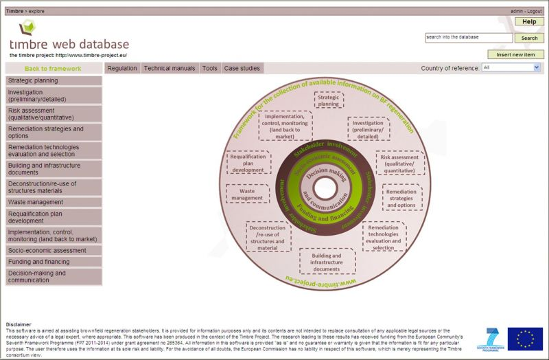 Main page of the Timbre Web Database